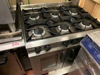 GAS COOKER UNDER CONVECTION FAN OVEN CATERING COMMERCIAL KITCHEN FAST FOOD TAKE AWAY SHOP