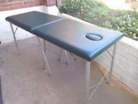 Massage table. Aluminium frame. Portable. Carry case. Excellent condition