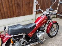 Red Yamaha SR125 2000/W Good Condition