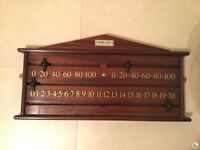 Handmade Marker, billiard/snooker score board by Hamilton Billiards & Games