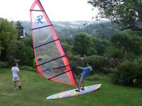 Fanatic Windsurf board ,sail, boom,etc