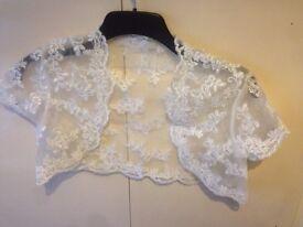 Ivory lace bolero