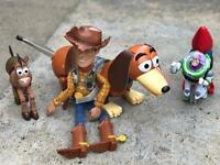 Toy story figures, play kitchen and Duplo