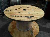 Up cycle cable drums good solid wooden drums various sizes from 600mm to 1500mm