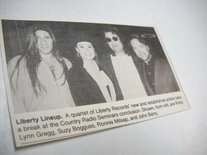 RONNIE MILSAP John Berry SUZY BOGGUSS Ricky Lynn G 1993 music biz promo pic/text