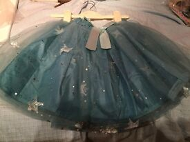 Brand new monsoon blue star sparkle sitra skirt with tags size 7-8 years