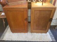 Pair of 1950s Staverton Air Ministry Cabinets/Lockers. Vintage/Storage