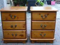 Bedside tables-PINE -Pair VGC