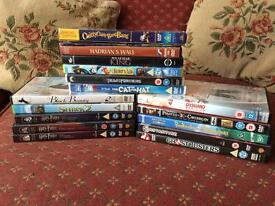 Group of 16 DVD's