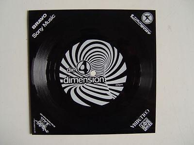 """DIE FANTASTISCHEN VIER - Die 4 Dimension - 7"""" Folien Single BRAVO EMI Sony RAR"""