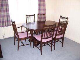 STAG DINING TABLE CHAIRS AND SIDEBOARD