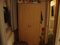 double light wood inner shelf wardrobe new cond