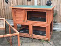 Large Rabbit Hutch, Run & Accessories £100ono