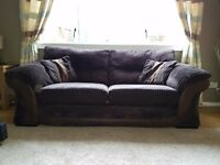 3 & 2 brown sofas from DFS