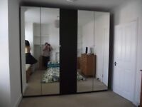 Wardrobes ~ 2 Double and 1 Single IKEA Pax Black/Brown Wardrobes
