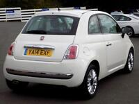 FIAT 500 1.2 MULTIJET LOUNGE 3d 95 BHP (white) 2014