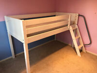 John Lewis Bunk Bed, without a Mattresses, Single, White