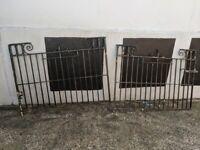 Solid cast iron driveway gates