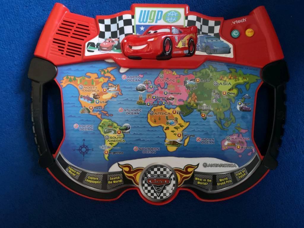 Vtech lightening mcqueen world map interactive game in knightswood vtech lightening mcqueen world map interactive game gumiabroncs Image collections
