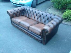 Antique brown chesterfield delivery available