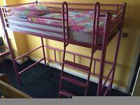 High sleeper bed PINK