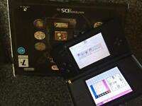 Black Nintendo ds lite, box,acc,chargers & game