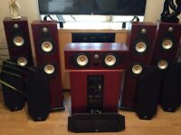 Complete audiophile 7.1 / Stereo set-up. Yamaha, Monitor Audio, Sequence, Cabling.