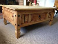 Pine rustic character coffee table