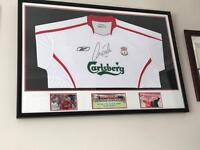 Signed Framed Robbie Fowler Shirt Display. - OFFERS CONSIDERED