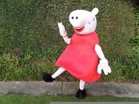 for sale Peppa Pig and Elsa mascot costumes vgc