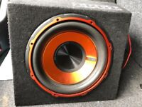 Edge subwoofer with amp