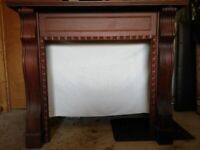 PRICE REDUCED Victoriana style mahogany fire surround with cast iron and tiled insert