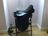 Black Thorowgood T4 16:5 pony saddle. for sale  Bonnyrigg, Midlothian