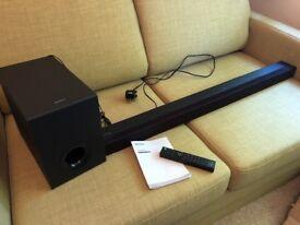 Broken Faulty Sony Soundbar HT-CT80 with Sub Woofer Speaker System Sound Bar