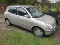 Daihatsu Sirion 989cc automatic, spares or repair, cheap tax and insurance, easy fix