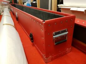 2 x Protective Poly Flight Cases NEW Long With Metal Corners & Handles & Wheels