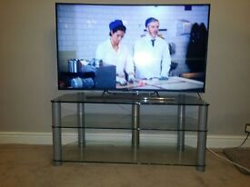 large strong glass TV stand