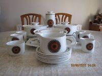 J&G Meakin (Inca Design) 4 Place Dinner Set plus other items