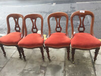4 Mahogany Chairs - Good Quality and Condition - Free Local Delivery