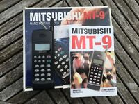 Old Analogue mobile phone Mitsubishi MT-9 complete in box with all originally supplied items inc.