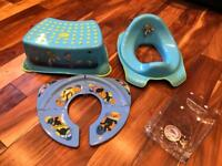 Toy Story potty training toilet seat, step & portable folding toilet seat