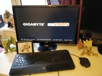 Gaming PC, Screen, Keyboard and Mouse