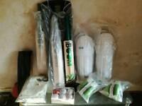 New cricket bat, pads, gloves,ball's