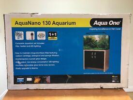 Aqua One AquaNano 130L Tropical Freshwater Fish Tank Aquarium