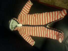2 Snowsuits 3-6m and 6-12m
