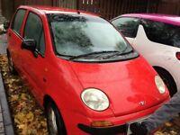Daewoo matrix low mileage cheap car