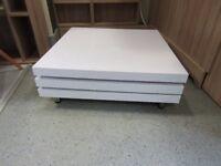white high gloss coffee swivel table
