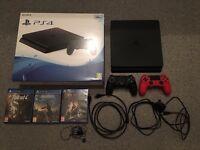 PlayStation 4 Slim 500GB - 2 Controllers - 3 Games