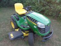 John Deere Ride on lawnmower, Model X165 Ex Demo 25 hours 48 inch cut 22hp engine