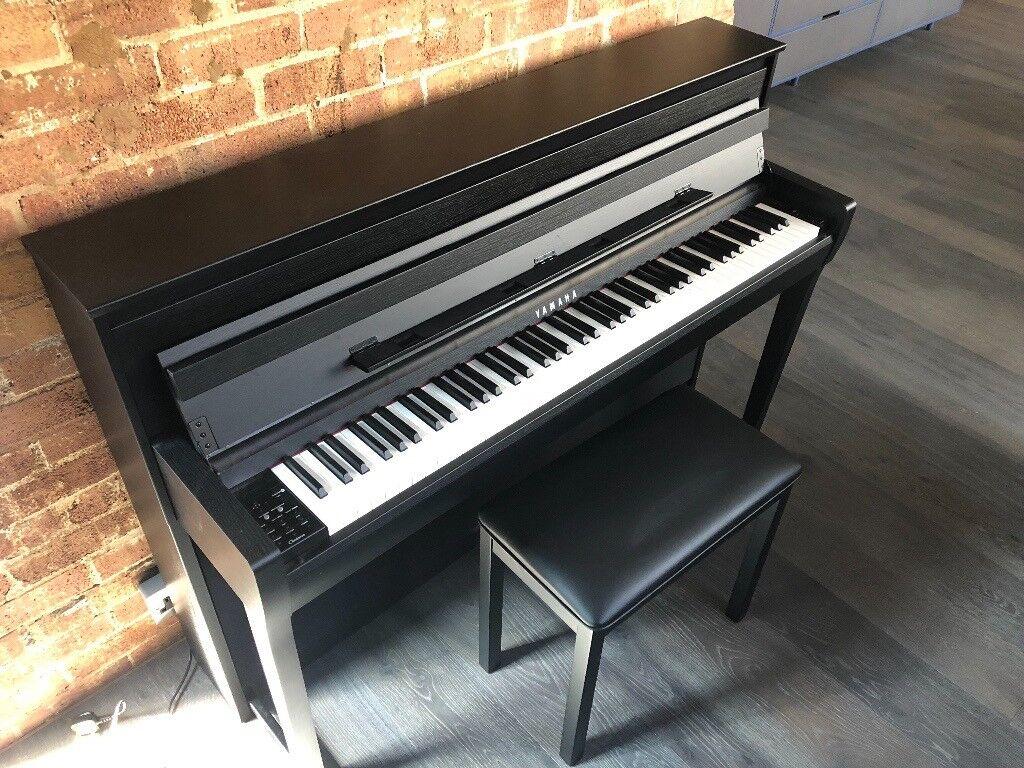 yamaha clp 685 clavinova digital piano in black walnut new december 2017 in holborn london. Black Bedroom Furniture Sets. Home Design Ideas